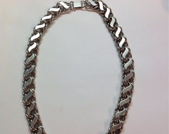 Heavy vintage sterling silver chain 1960's