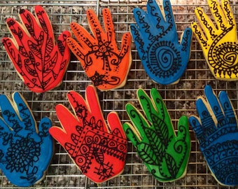 Henna Hand Cookies- large