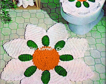 Crochet Bathroom Set Patterns Lot ONE 1-5- 5 Patterns for 1.99 Dollars