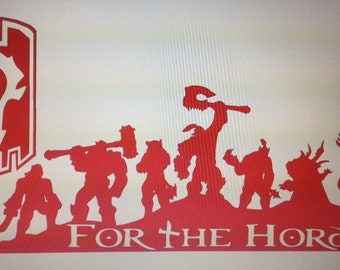"""World of Warcraft """"For The Horde"""" Decal Sticker"""