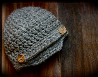 Crocheted Newsboy Beanie