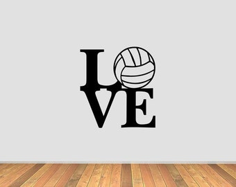 Love Volleyball Vinyl Decal
