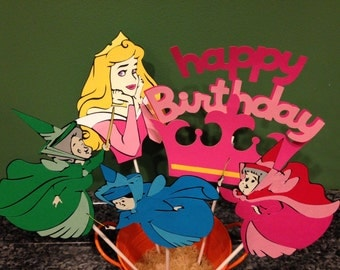Five Piece Sleeping Beauty Centerpiece