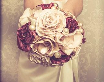 Bridal - bouquet-vintage-fabric