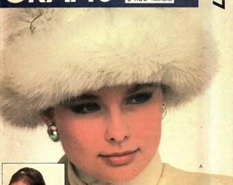 McCall's 9227 Dr. Zhivago Hats, Earmuff Covers, Scarf, Muff & Vest / ca. 1980's UNCUT