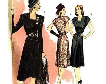 Butterick 5281 Sophisticated Forties' Dress & Belt 2008 / SZ6-12 UNCUT