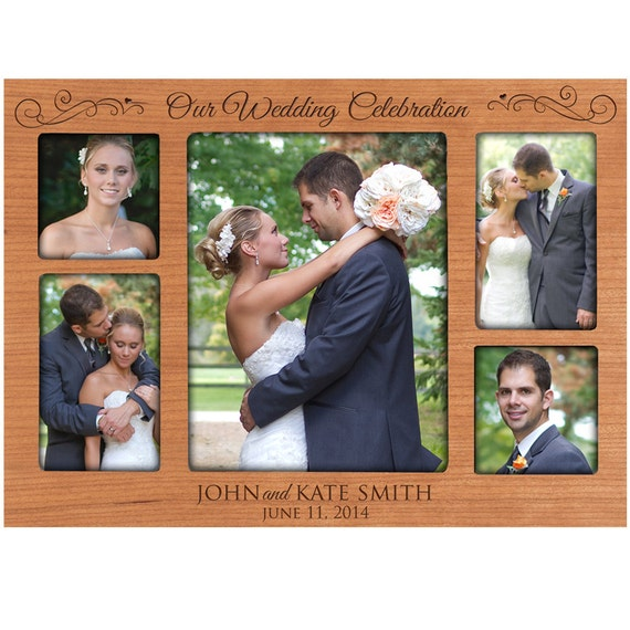 Personalized Wedding Picture Frames For Parents : Picture Frame Custom Engraved photo frame wedding frame for Parents ...