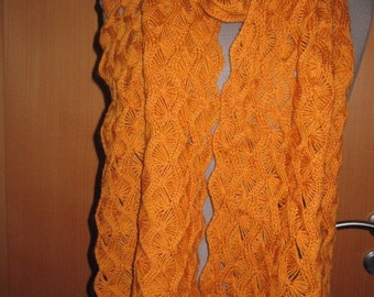 50 % off. Hand made scarf, hand knitted from wool.