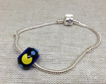 Retro Pac-Man Inspired Charm Bracelet Bead