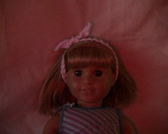 American Girl Doll Knit Headband pink
