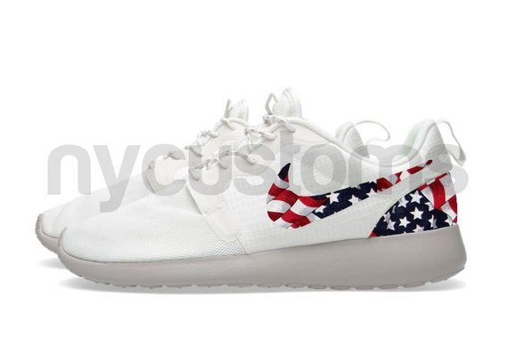 tahqg Nike Roshe Run Hyperfuse White Sail/Brown American by NYCustoms