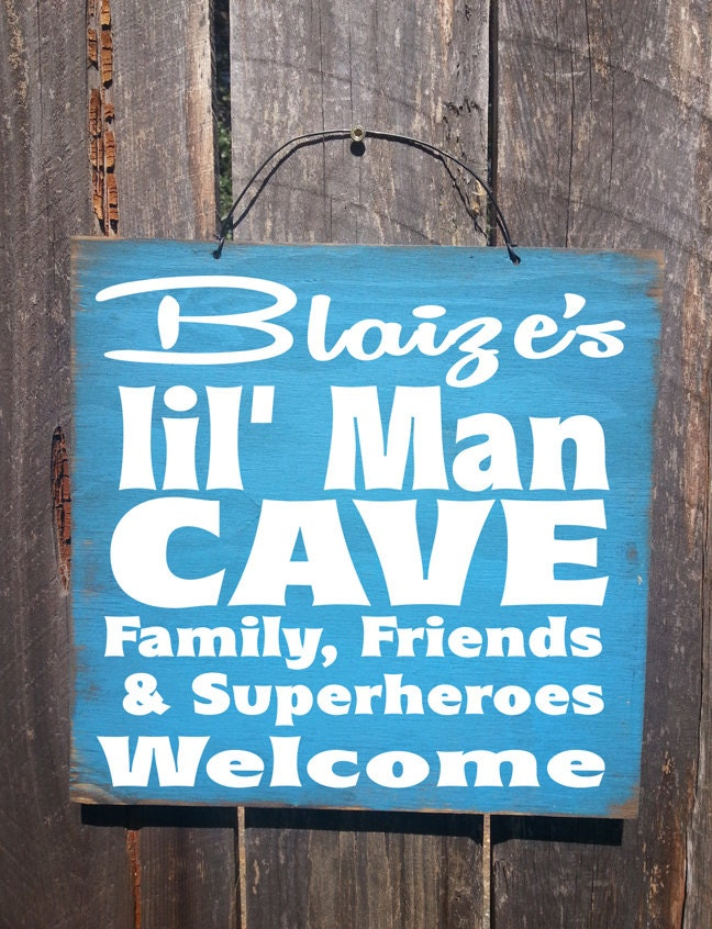 Customized Man Cave Signs : Personalized lil man cave sign custom boys