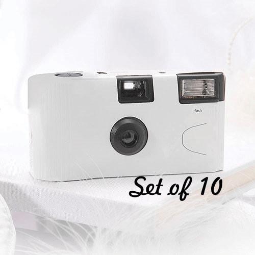 Wedding Disposable Cameras: 10 Disposable Cameras Wedding Favor White Camera White