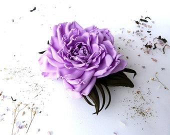 Rose violet (brooch / clip on hair/wreath/bracelet) Clearance sale 30%