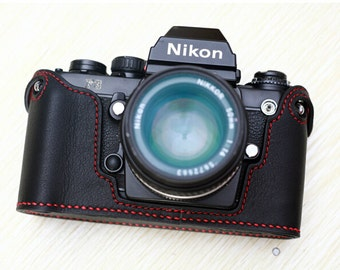 For Nikon F3 Half Case, F3 Leather Cameras Case, F3 Camera Case, Handmade Simple Leather Camera Case
