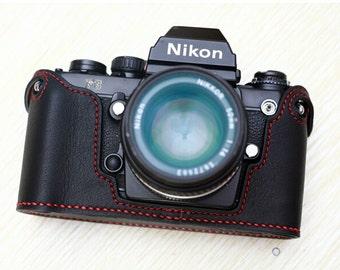 For Nikon F3 Half Case, F3 Leather Cameras Case, F3 Camera Case, Handmade Simple Leather Camera Case