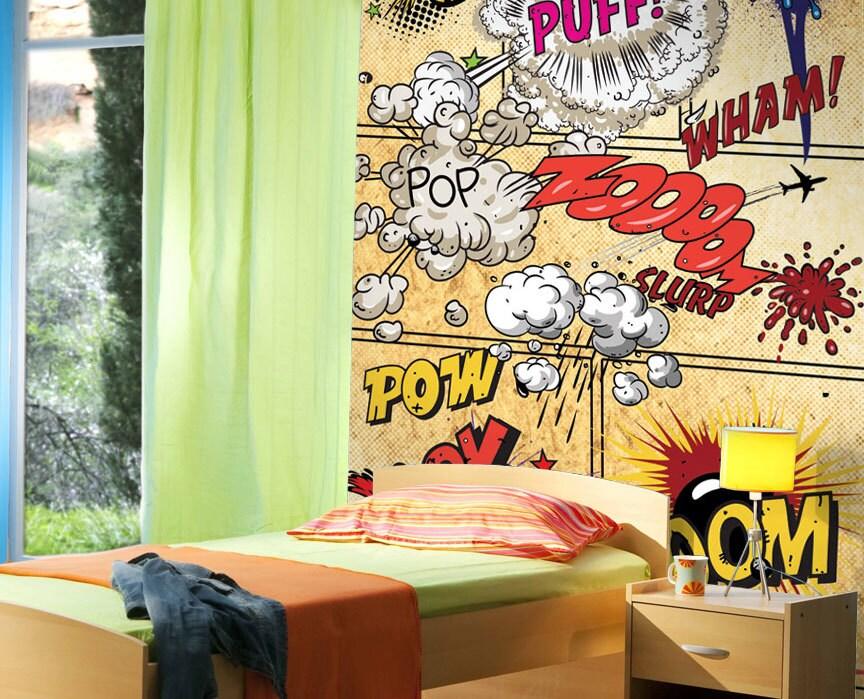 jp london ustrip peel and stick retro comic book wall mural robot mural day 2 heyapathy surreal comics