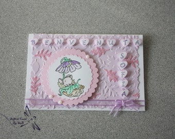 Romantic Birth Card