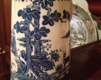 Booths English silicon china, Lowestoft Deer pattern pitcher