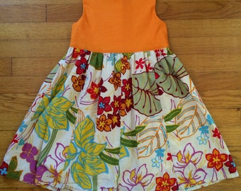 100% cotton girls dress
