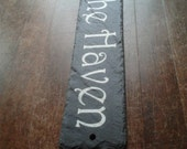 Beautiful Natural Slate House Signs Personalised for you with any details - Made by Master Craftsmen 28cm x 7cm WORLDWIDE DELIVERY
