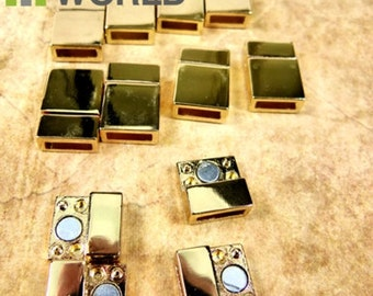 10x Magnetic Clasps SHINY GOLD  for bracelet and jewelry making.