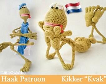 002Nl Kikker Kvak - Amigurumi Haakpatroon - PDF by Astashova Etsy