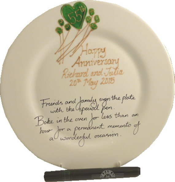 Emerald Wedding Anniversary Gifts: PERSONALISED 55th Emerald Wedding Anniversary Gift By