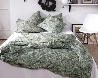 "Single bedsheets / bedlinen with a haystack pattern ""HAYKA"""