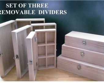 Set Of 6 unfinished wooden boxes ready for decoration, Decoupage, Pyrography