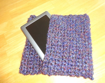 Crocheted Tablet Case - Nook Sleeve - Kindle Sleeve - iPad Mini Case - Tablet Cozy - Crochet Cozy - Nook Cover - Crochet Cover - Nook Cozy