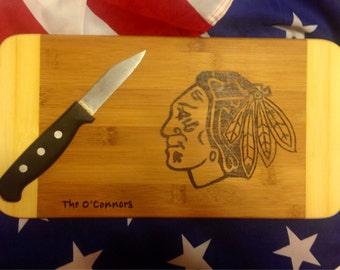 Chicago Blackhawks Cutting Board