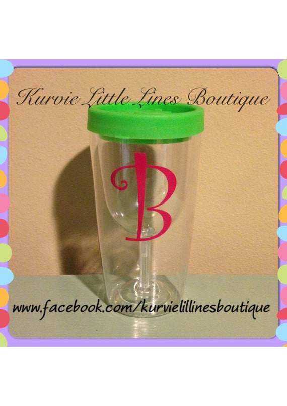 Personalized Wine To Go Cup Acrylic Wine Cup By