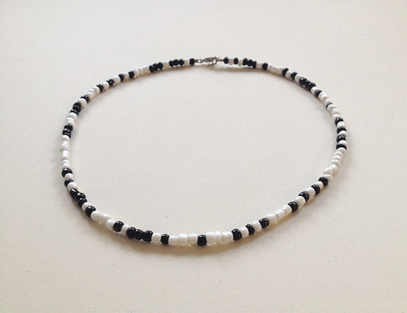 What Fresh Hell morse code beaded necklace