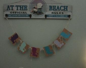 Beach Chairs Banner, Garland, Color Chair Banner, Beach Banner, Garland