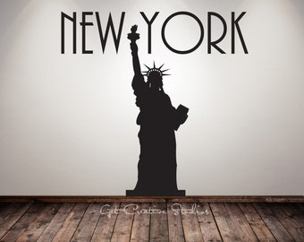 New York Decal Statue of Liberty Wall Decal Freedom Decal Lady Liberty Decal Independence Decal 4th of July Decal Liberty Sticker