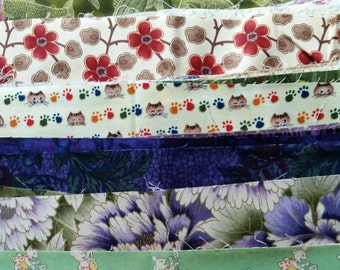 Fabric Scraps for Quiltmaking. Mostly quilt shop quality cottons, mixed colors and styles. 6 lbs.