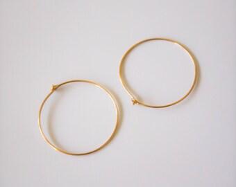 Thin Gold hoops, gold hoop earrings, gold filled earring, simple hoop earrings, thin earrings, thin gold hoop earrings