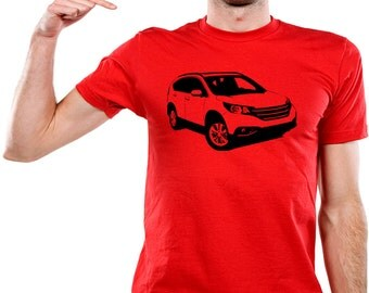 Car T-shirt Honda CR-V IV sport Fourth generation Compact Recreational Vehicle, Comfort Runabout Vehicle compact suv crossover ex lx  AUT041