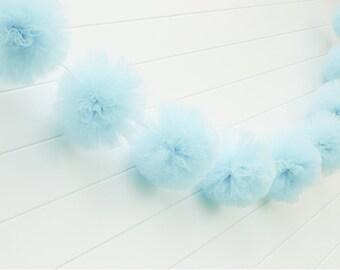 Light Blue Tulle Garland