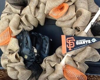 SF Giants Wreath,  Giants Wreath, Baseball Wreath, San Francisco Giants