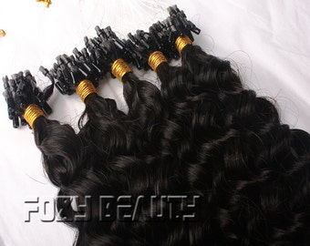 Wholesale and Retail 50-100grams  micro beads hair extensions100%handmade virgin human hair micro loop ring extensions