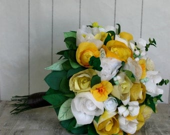 Completely Bespoke Paper Flower First Anniversary Bouquet,  to replicate bouquet from wedding day