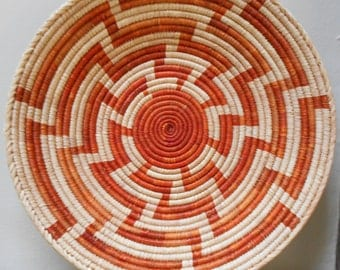 Hopi Coiled Basket - Whirlwind Pattern - [#6 - TB - underbed]