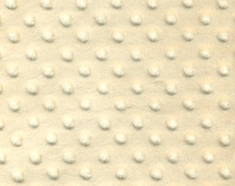 1 HALF YARD Minky Dot Chenille in Ivory