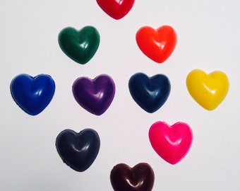 Heart Crayons! Party favors. Valentines