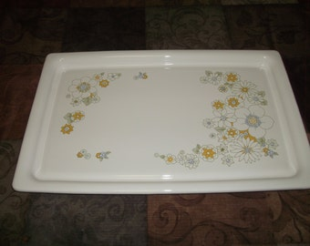 Vintage Corning P-35 Floral Bouquet Broil Bake Tray