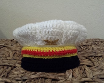 Crochet Navy hat