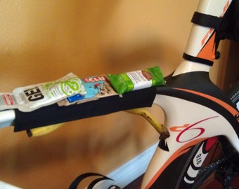 Half Length Stick-it Bike Sleeve for storing nutrition during endurance rides and races, Bike Accessory Storage, Triathlon Nutrition Storage