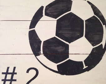 Distressed Soccer/Basketball/Volleyball Pallet Sign